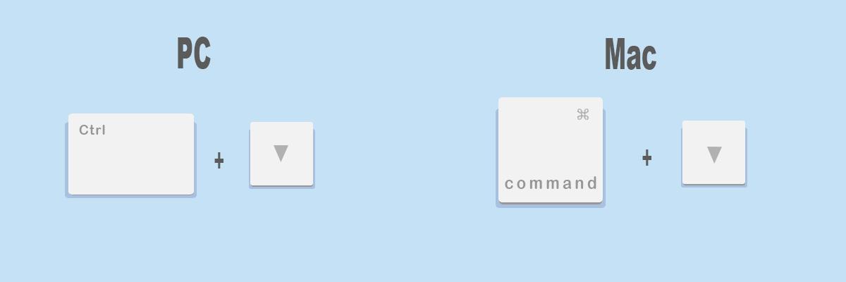 Combinaciones de teclas más útiles para Google Chrome: Ir al final de la página