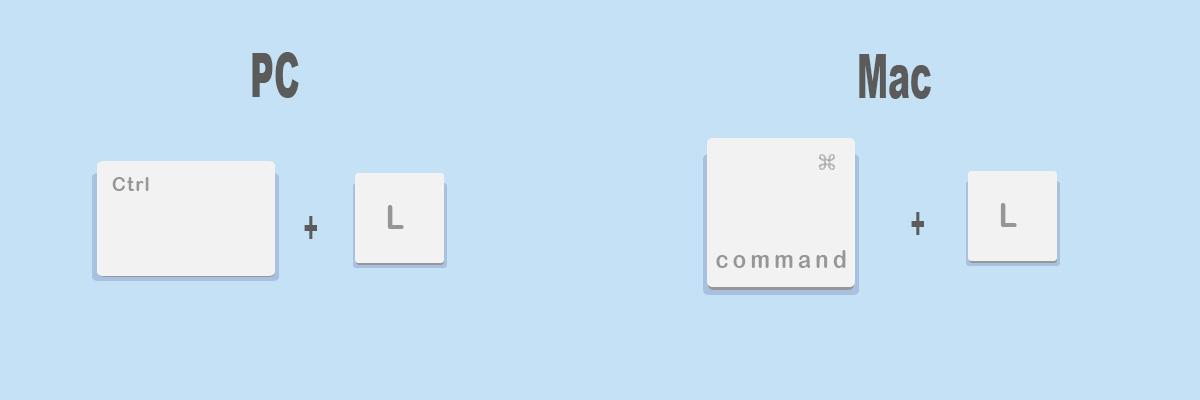 Combinaciones de teclas más útiles para Google Chrome: Ir la barra de direcciones