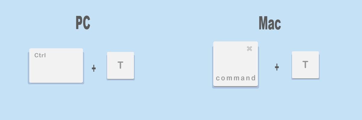 Combinaciones de teclas más útiles para Google Chrome: Abrir pestaña nueva