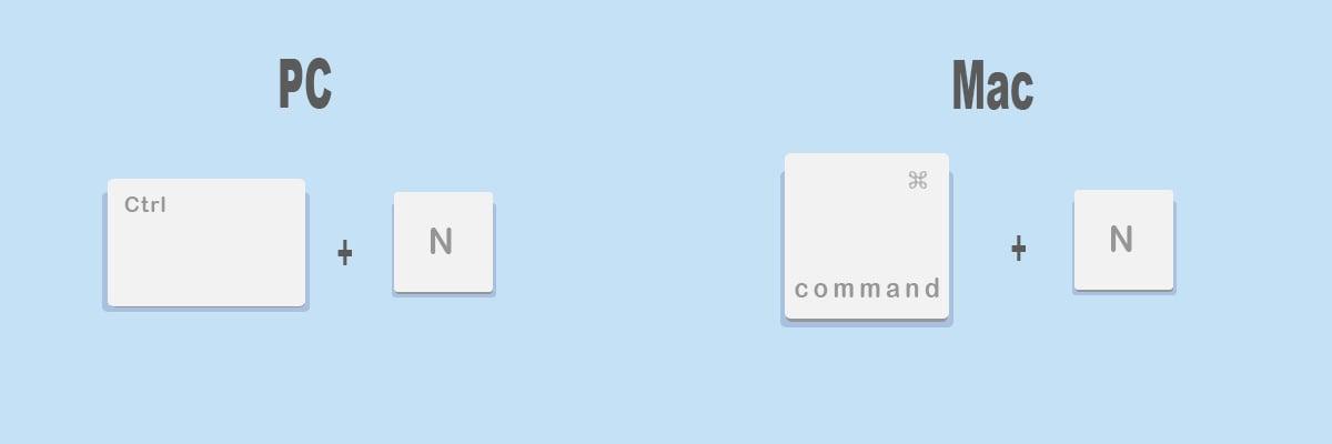 Combinaciones de teclas más útiles para Google Chrome: Abrir ventana nueva