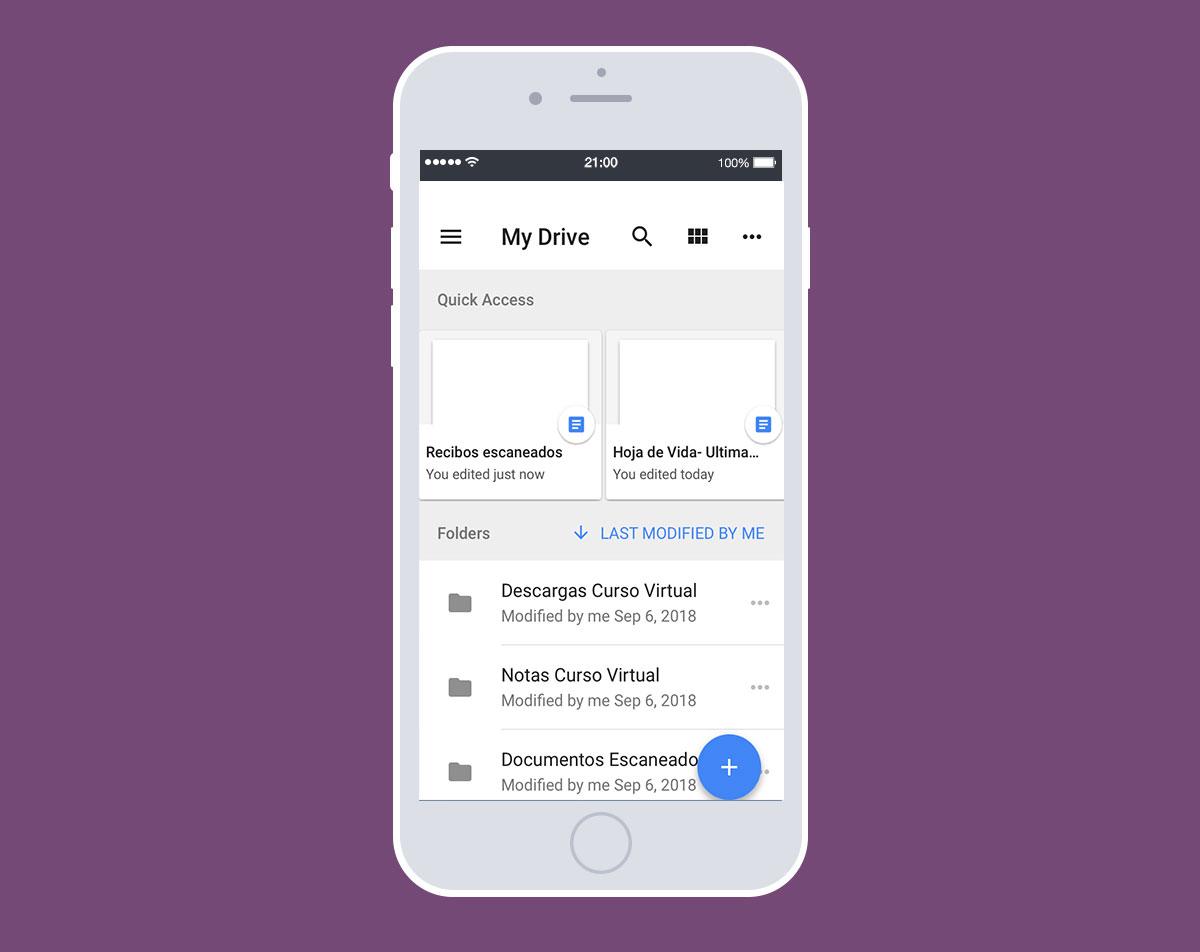 Herramientas gratis para productividad: Google Drive