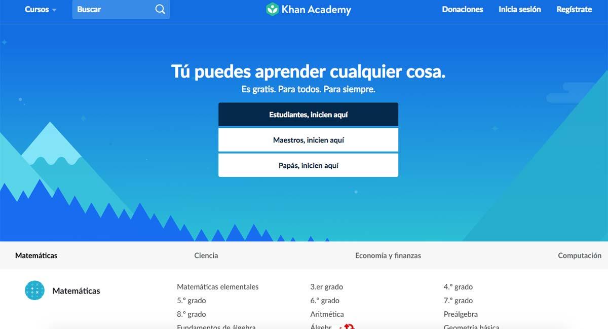 Recursos educativos gratis para las aulas modernas: Khan Academy