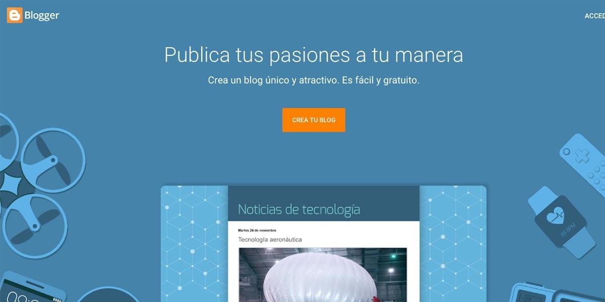 Creadores de blogs gratis para docentes - Blogger