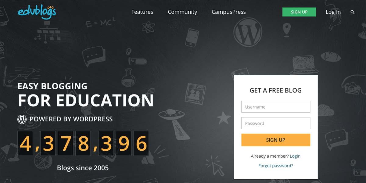 Creadores de blogs gratis para docentes - Edublogs