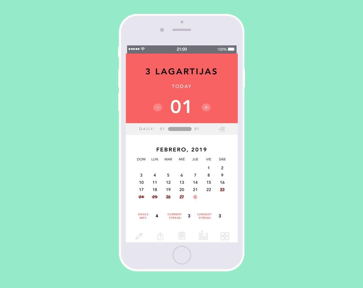 Lleva registro de tus hábitos - Aplicación Done