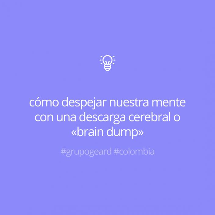 cómo despejar nuestra mente con una descarga cerebral o «brain dump»