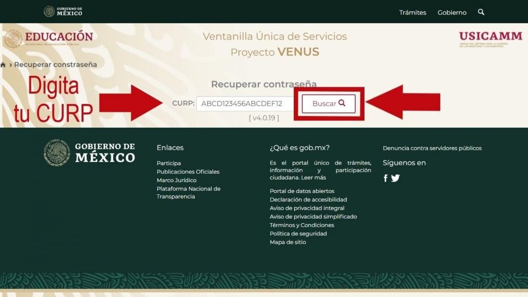 Contraseña Proyecto Venus